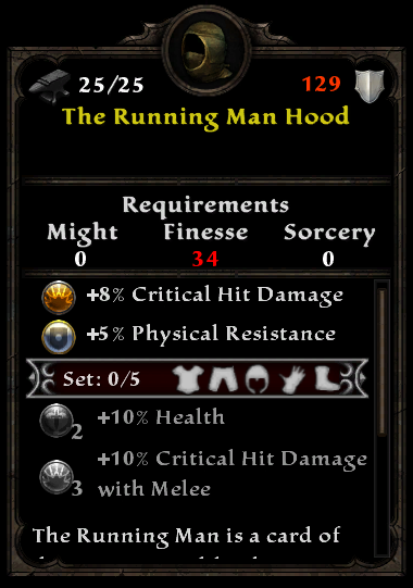 The Running Man Hood