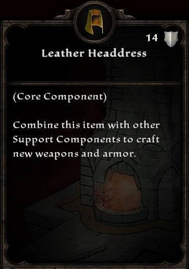 Leather Headdress