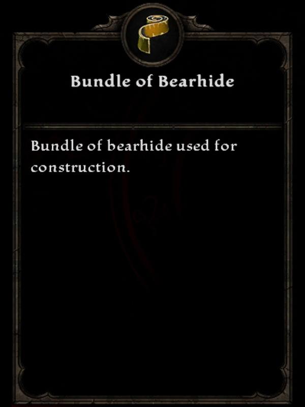 Bundle of Bearhide