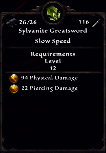 Sylvanite Greatsword