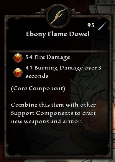 Ebony Flame Dowel