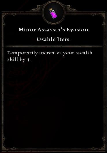 Minor Assassin's Evasion