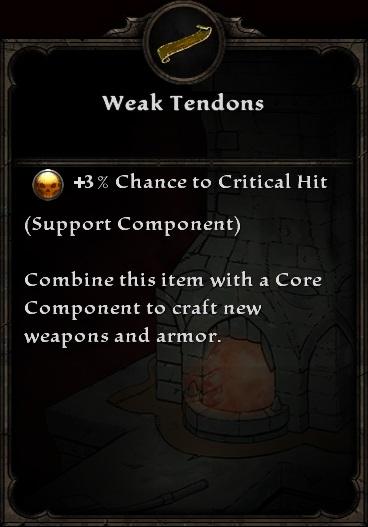 Weak Tendons