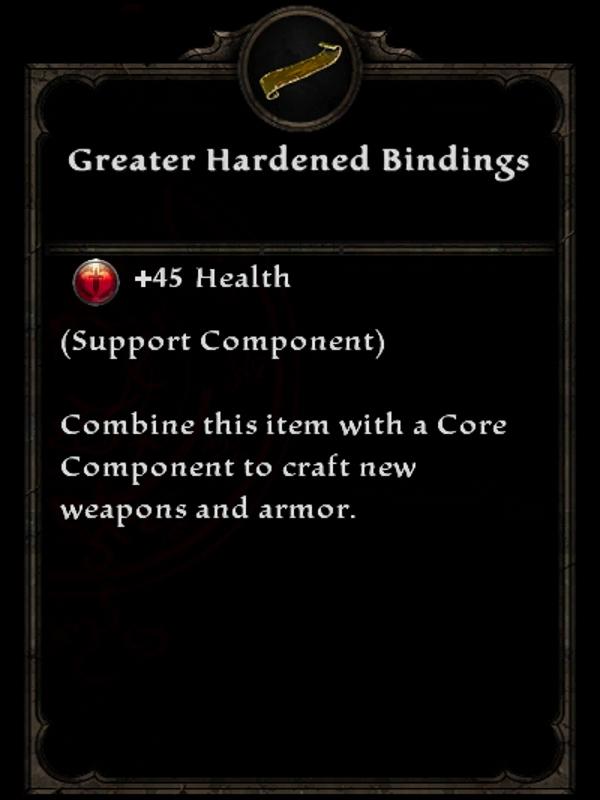 Greater Hardened Bindings