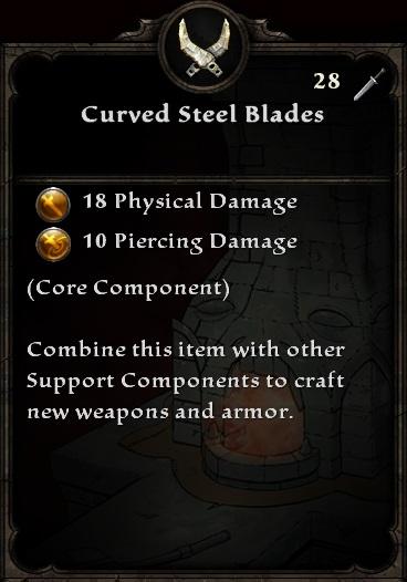 Curved Steel Blades