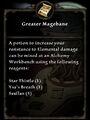 Greater Magebane Recipe Card