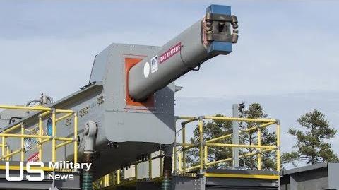 US NAVY 5600 mph RAILGUN - Navy's Gigantic Electromagnetic Railgun Is Ready for Deployment-0