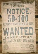 JMandCC Miners Wanted