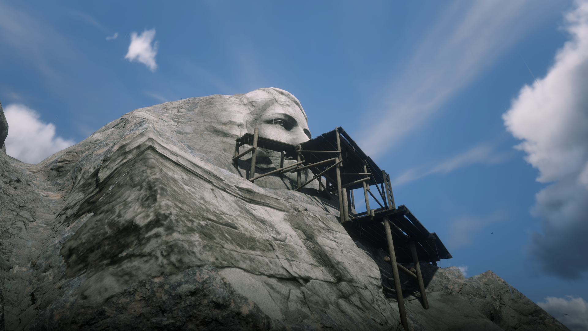Gesicht in der Bergwand