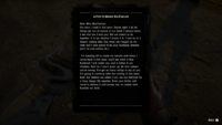 Red dead 2 letter to Bonnie MacFarlane text