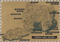 Legendary Animals habitats - Red Dead 2