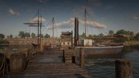 Thieves' Landing boat
