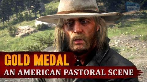 Red Dead Redemption 2 - Mission 22 - An American Pastoral Scene Gold Medal