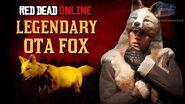 Red Dead Online - Legendary Ota Fox Location Animal Field Guide