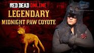 Red Dead Online - Legendary Midnight Paw Coyote Location Animal Field Guide