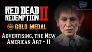 RDR2 PC - Mission 30 - Advertising, the New American Art II Replay & Gold Medal