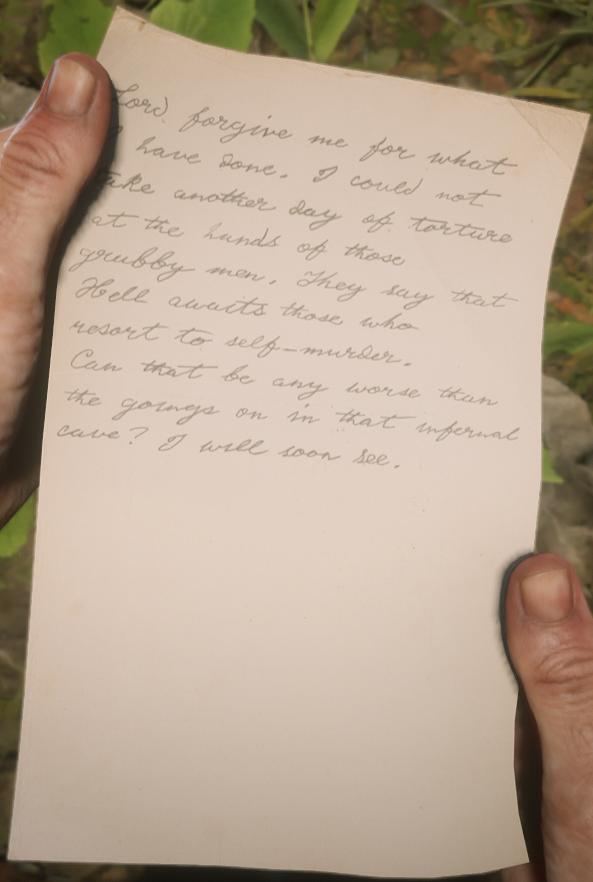 Murfree Brood Prisoner's Note