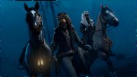 Nightwalker and Ghost Pelts worn by two online protagonist rdo