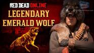 Red Dead Online - Legendary Emerald Wolf Location Animal Field Guide