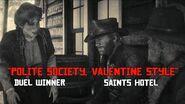 "DRDR2PT C2 P11 ""Polite Society, Valentine Style""; Duel Winner; Saints Hotel"