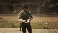 Sheriff Jones writting in a notebook