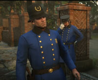 Arthur & Dutch disguised as Saint Denis Policemen