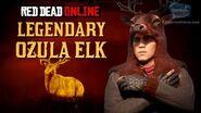 Red Dead Online - Legendary Ozula Elk Location Animal Field Guide