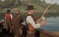 RDR2-The Old Guard fishing