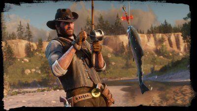 Arthur Morgan fishing