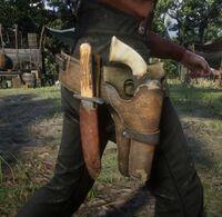 John's Hunting Knife and Custom Cattleman Revolver