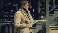 Arthur Morgan holding schofield revolver RDR2