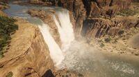 Manteca Falls waterfall seen from New Austin