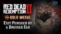 RDR2 PC - Mission -10 - Exit Pursued by a Bruised Ego -Replay & Gold Medal-