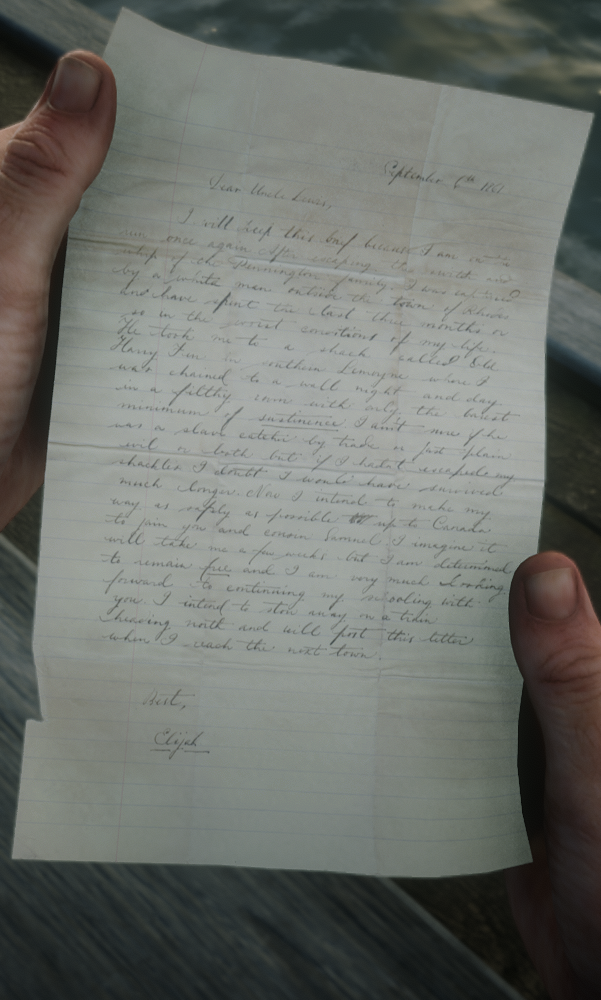 Letter to Uncle Lewis from Elijah