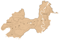 A map showing the shape and the borders of New Hanover