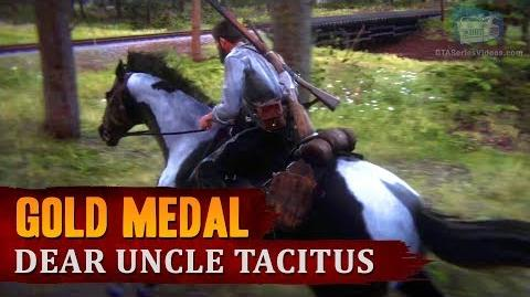 """Red Dead Redemption 2 - Mission 63 - Dear Uncle Tacitus (""""May I? Stand Unshaken"""") Gold Medal"""