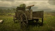 Maxim Gun mounted on wagon rdr2