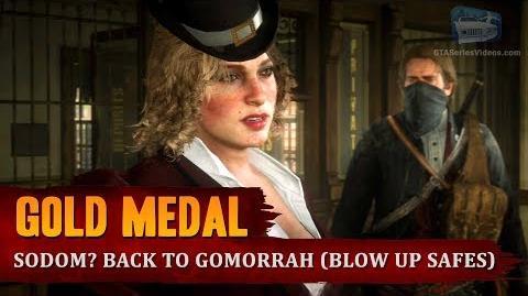Red Dead Redemption 2 - Mission 36 - Sodom? Back to Gomorrah (Blow Up Safes) Gold Medal