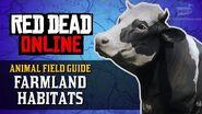 Red Dead Online - Farmland Habitats Animal Locations Guide Naturalist Role