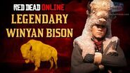 Red Dead Online - Legendary Winyan Bison Location Animal Field Guide