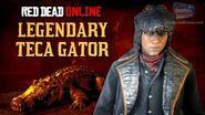 Red Dead Online - Legendary Teca Gator Location Animal Field Guide