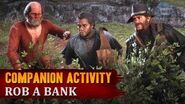 Red Dead Redemption 2 - Companion Activity -11 - Bank Robbery (Charles) -Exclusive Mission-