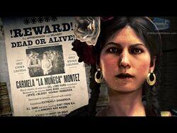 """Red Dead Online Legendary Bounty -12 - Carmela """"La Muñeca"""" Montez (5-Star Difficulty - Solo)"""
