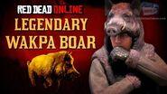 Red Dead Online - Legendary Wakpa Boar Location Animal Field Guide