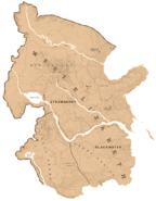 A map showing the shape and the borders of West Elizabeth