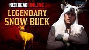 Red Dead Online - Legendary Snow Buck Location Animal Field Guide