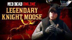 Red Dead Online - Legendary Knight Moose Location Animal Field Guide