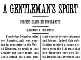 A Gentleman's Sport