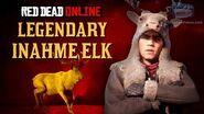 Red Dead Online - Legendary Inahme Elk Mission Animal Field Guide