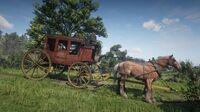Hosea on the stolen stagecoach in Carmody Dell